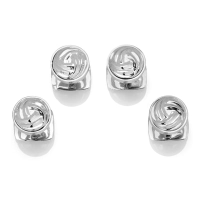 Modern Knot Sterling Silver Studs Ox and Bull Trading Co. Studs - Paul Malone.com