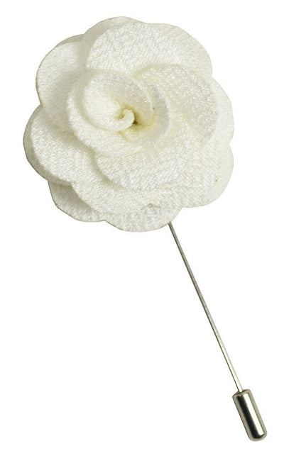 Off-White Lapel Flower Paul Malone Lapel Flower - Paul Malone.com