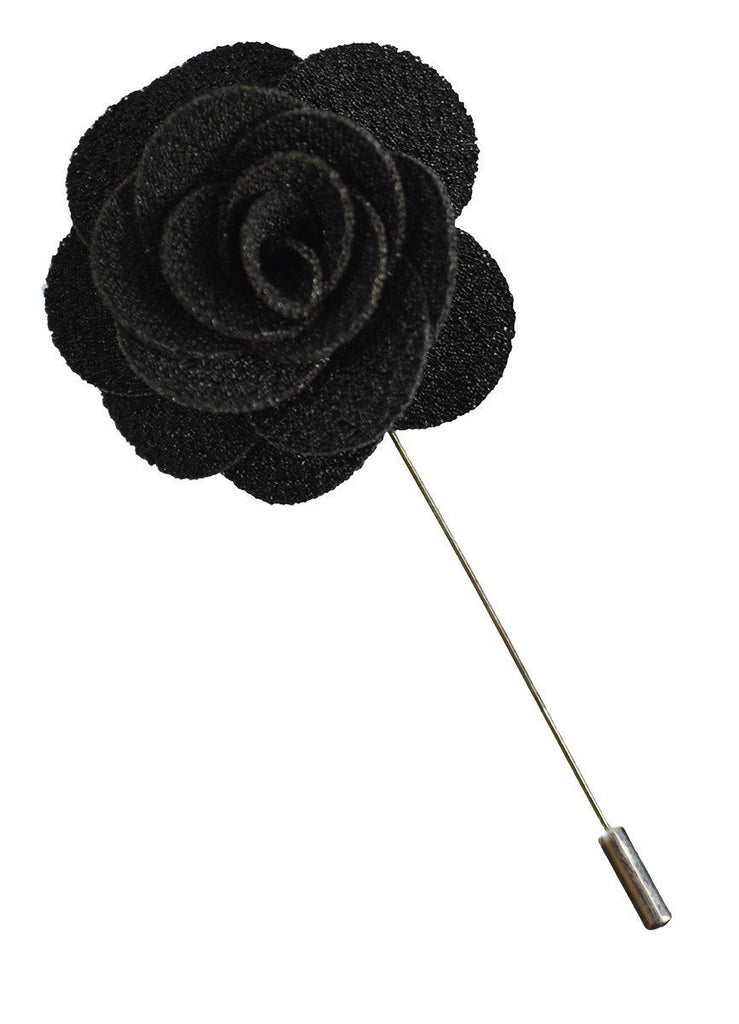 Black Lapel Flower Paul Malone
