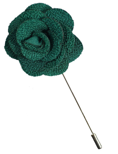 Emerald Green Lapel Flower Paul Malone Lapel Flower - Paul Malone.com