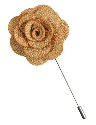 Gold Lapel Flower Paul Malone Lapel Flower - Paul Malone.com