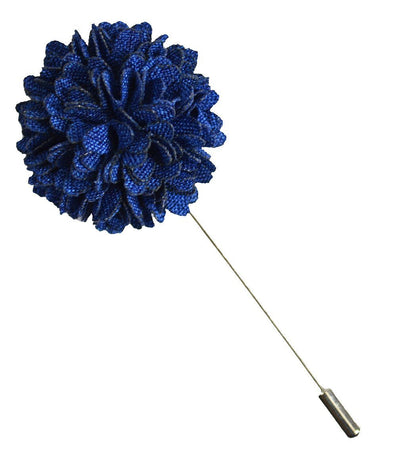 Dark Blue Lapel Flower Paul Malone Lapel Flower - Paul Malone.com