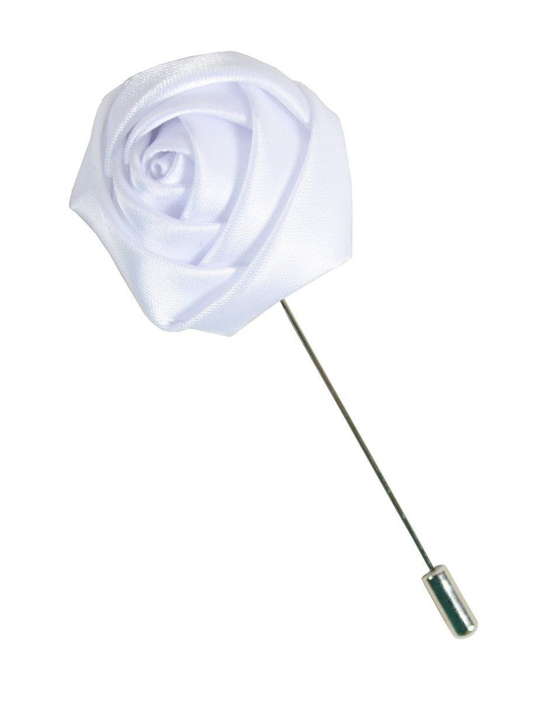 White Rose Lapel Flower Paul Malone Lapel Flower - Paul Malone.com