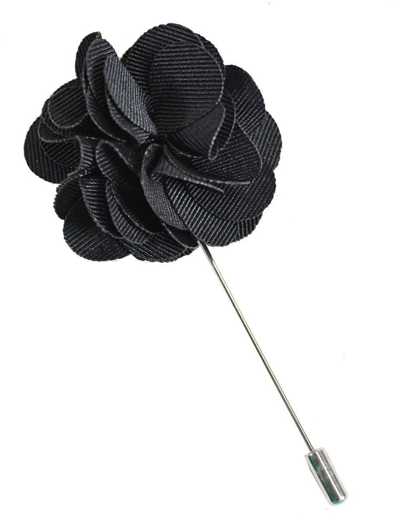 Solid Black Lapel Flower Paul Malone Lapel Flower - Paul Malone.com