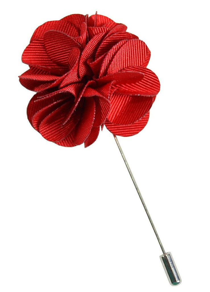 Solid Red Lapel Flower Paul Malone  - Paul Malone.com