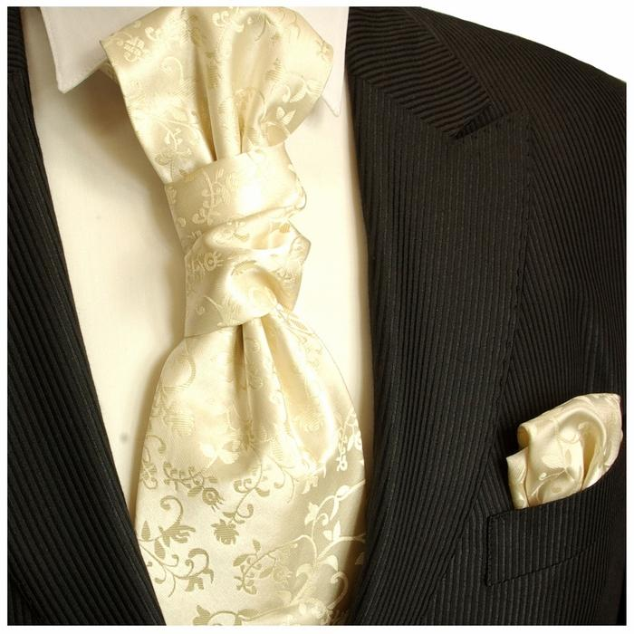 Champagne Vines Cravat and Pocket Square Set Paul Malone Cravat - Paul Malone.com