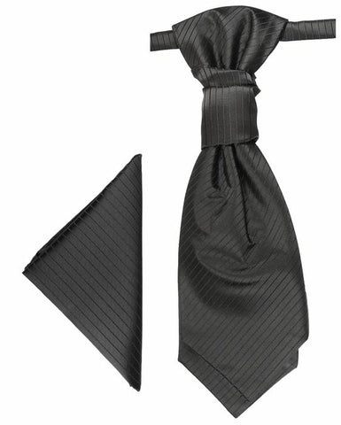 Black and Silver Cravat