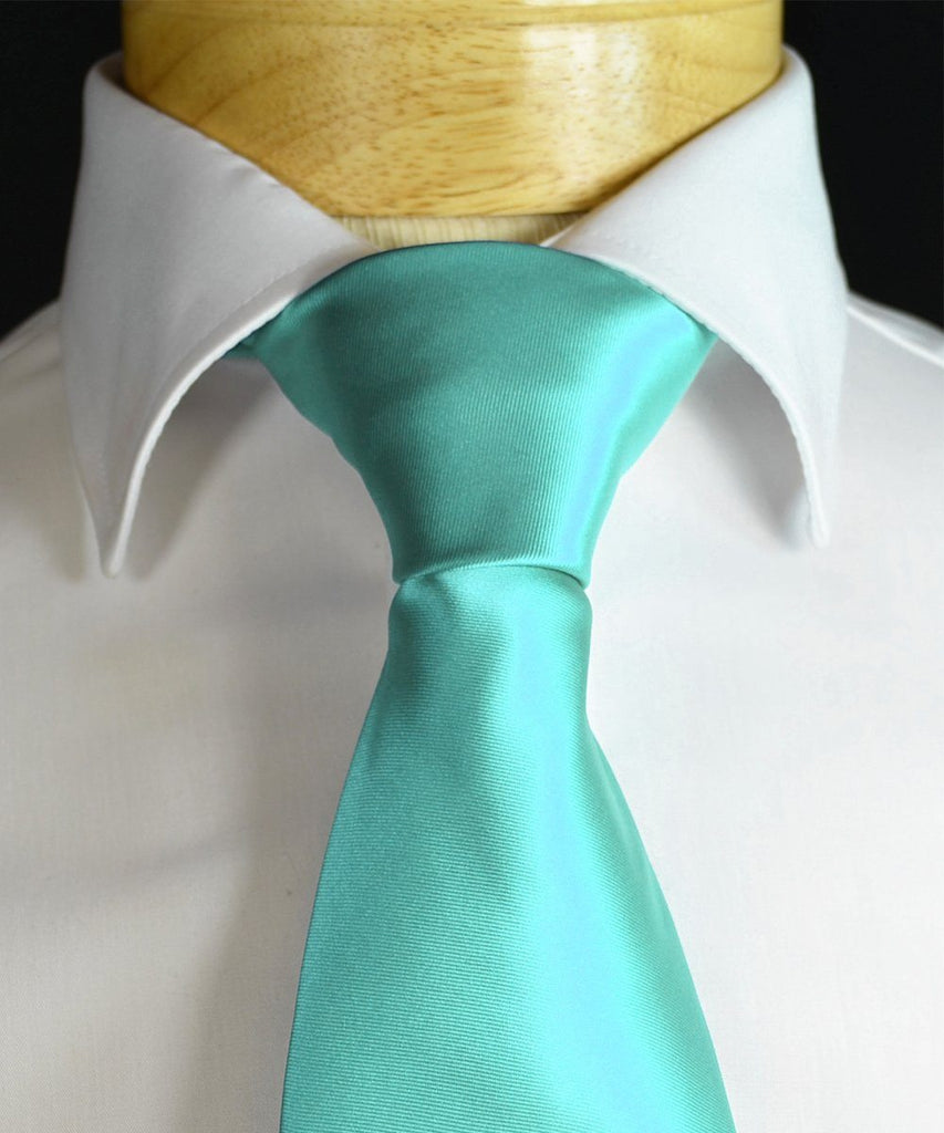 Angel Blue Necktie and Pocket Square Paul Malone Ties - Paul Malone.com