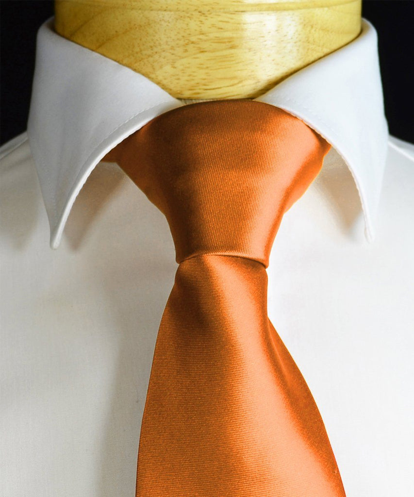 Coral Gold Necktie and Pocket Square Paul Malone Ties - Paul Malone.com