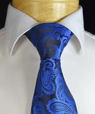 Gold and Black Striped Necktie by Paul Malone