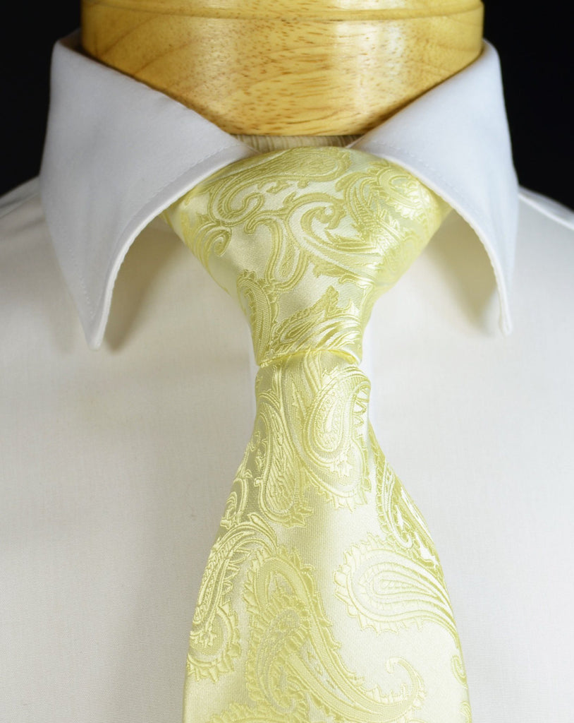 Champagne Paisley Formal Tie and Pocket Square Paul Malone Ties - Paul Malone.com