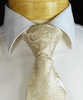 Taupe Paisley Formal Necktie and Pocket Square Paul Malone Ties - Paul Malone.com