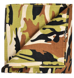 Green and Brown Camouflage Cotton Pocket Square Paul Malone  - Paul Malone.com