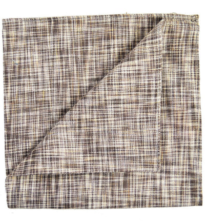Brown Cotton/Linen Blend Pocket Square Paul Malone  - Paul Malone.com