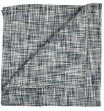 Black Cotton/Linen Blend Pocket Square Paul Malone  - Paul Malone.com