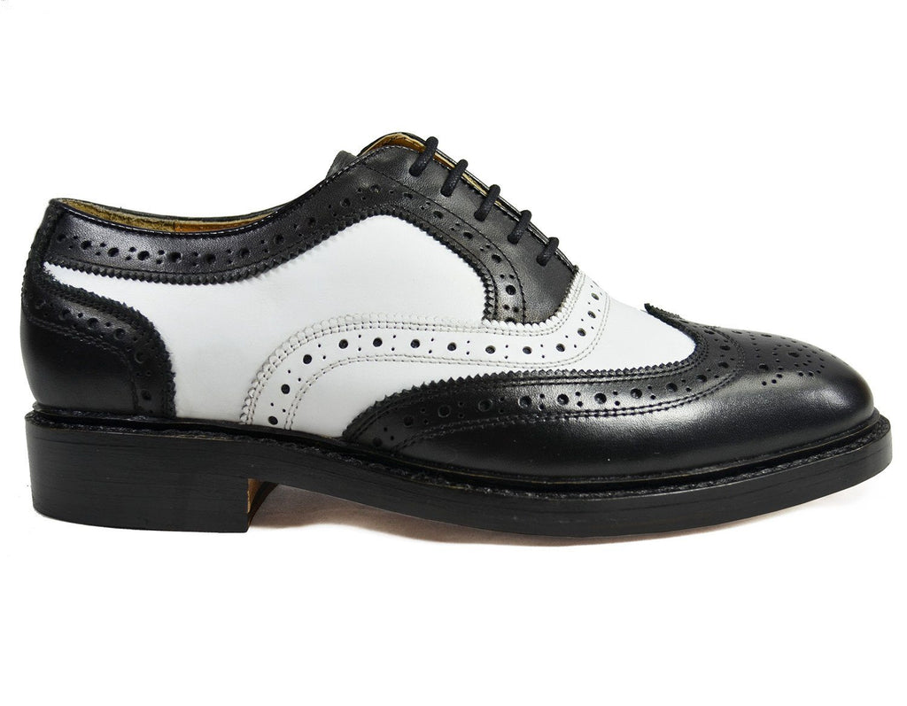 PETER Black and White Leather Spectators by Paul Malone Paul Malone Shoes - Paul Malone.com