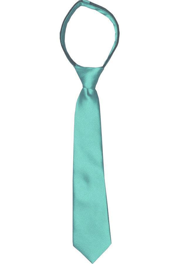 Moonlight Jade Boys Zipper Tie Brand Q Ties - Paul Malone.com