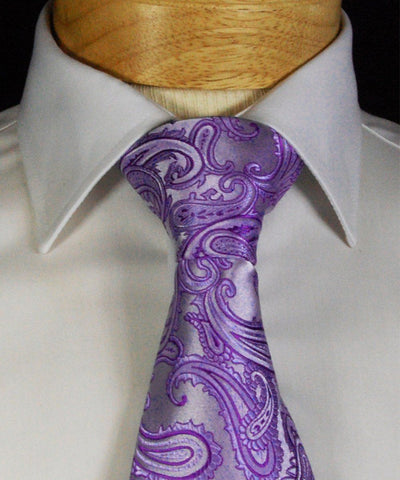 Vibrant Yellow Paisley Formal Tie and Pocket Square