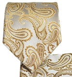 Tan Paisley Necktie and Pocket Square Ties Paul Malone