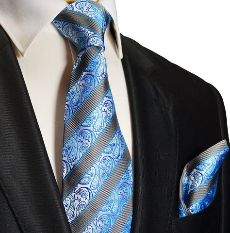 Solid White Necktie and Pocket Square