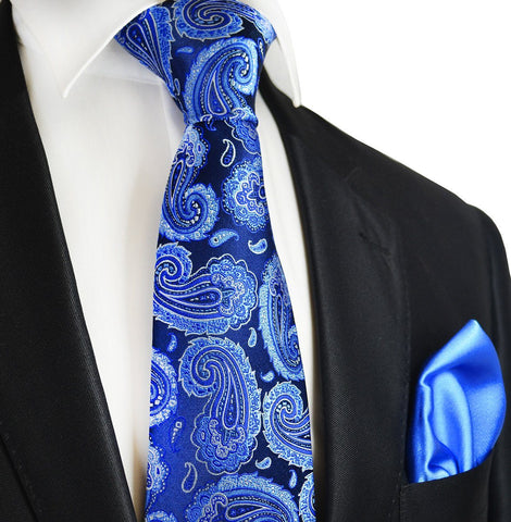 Windsor Wine and Royal Blue 7-fold Silk Tie and Pocket Square