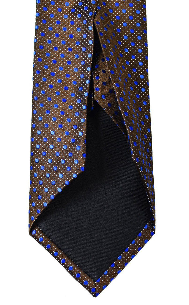 Brown and Blue 7-fold Silk Tie Set Ties Paul Malone