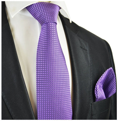 Grape Royale Silk Tie and Pocket Square Paul Malone Ties - Paul Malone.com