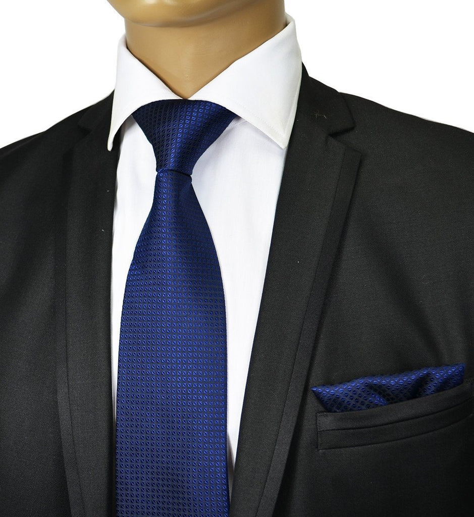 d3193a3149a8 Navy Blue Silk Tie and Pocket Square Paul Malone Ties - Paul Malone.com ...