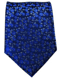 Navy Floral Silk Tie and Pocket Square Paul Malone Ties - Paul Malone.com