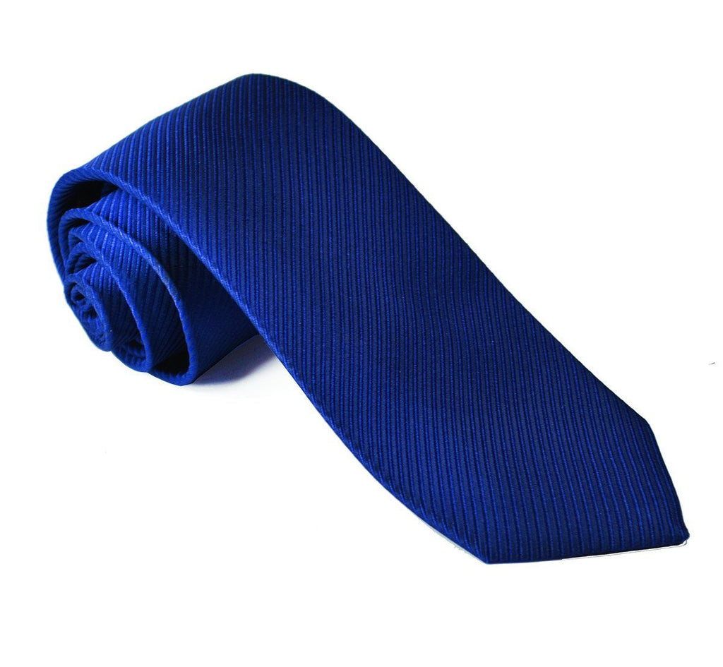 Solid Navy 7-fold Silk Tie and Pocket Square Paul Malone Ties - Paul Malone.com