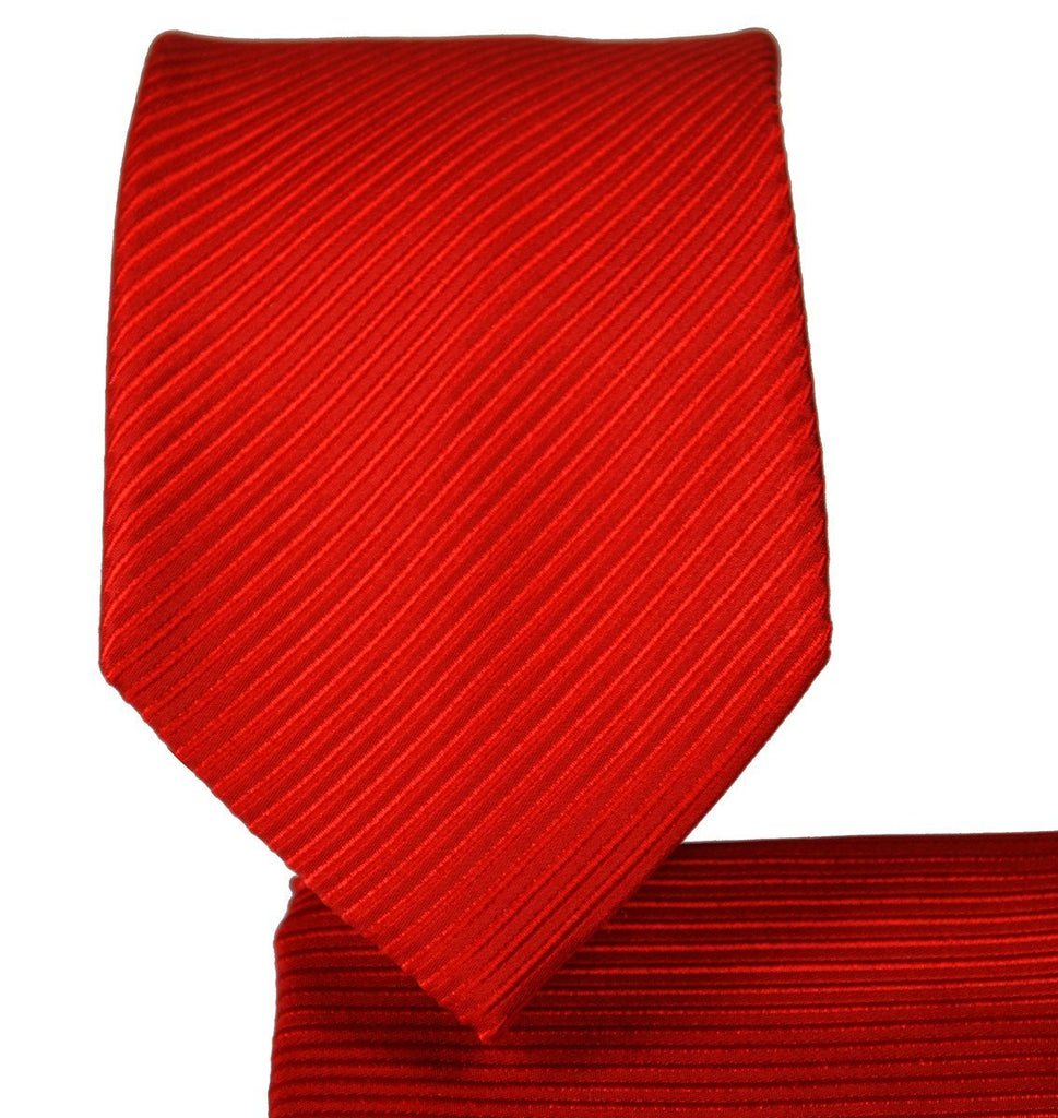 Solid Red 7-fold Silk Tie and Pocket Square Paul Malone Ties - Paul Malone.com