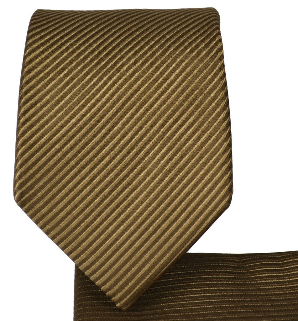Solid Brown 7-fold Silk Tie and Pocket Square Paul Malone Ties - Paul Malone.com