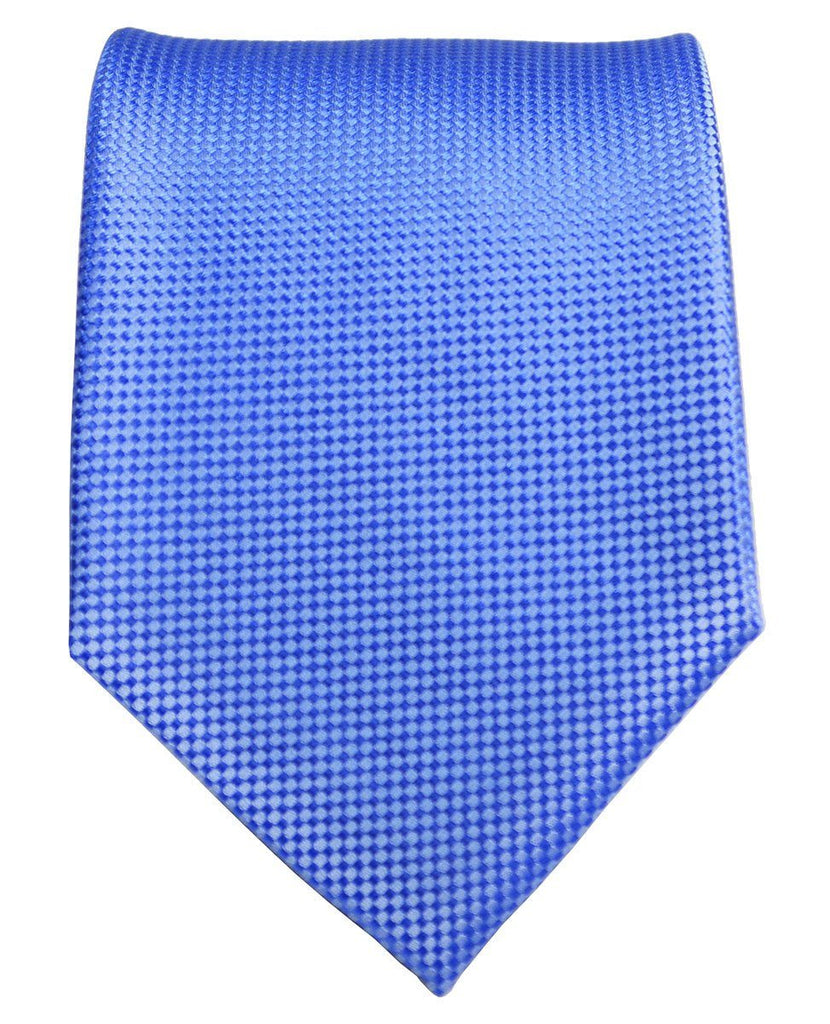 Blue Microchecked Silk Tie and Pocket Square Paul Malone Ties - Paul Malone.com