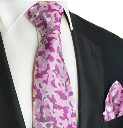 Sweet Lilac and Purple Silk Tie and Pocket Square Paul Malone Ties - Paul Malone.com