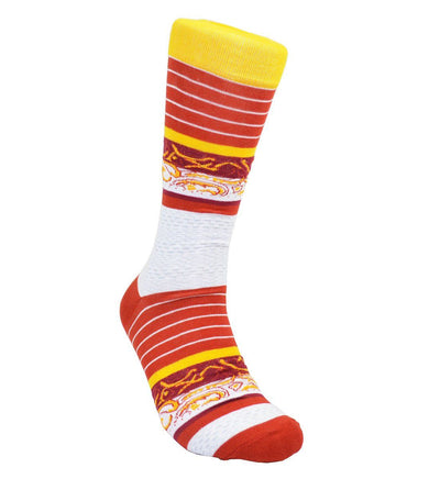 Red and Gold Cotton Dress Socks By Paul Malone Paul Malone Socks - Paul Malone.com