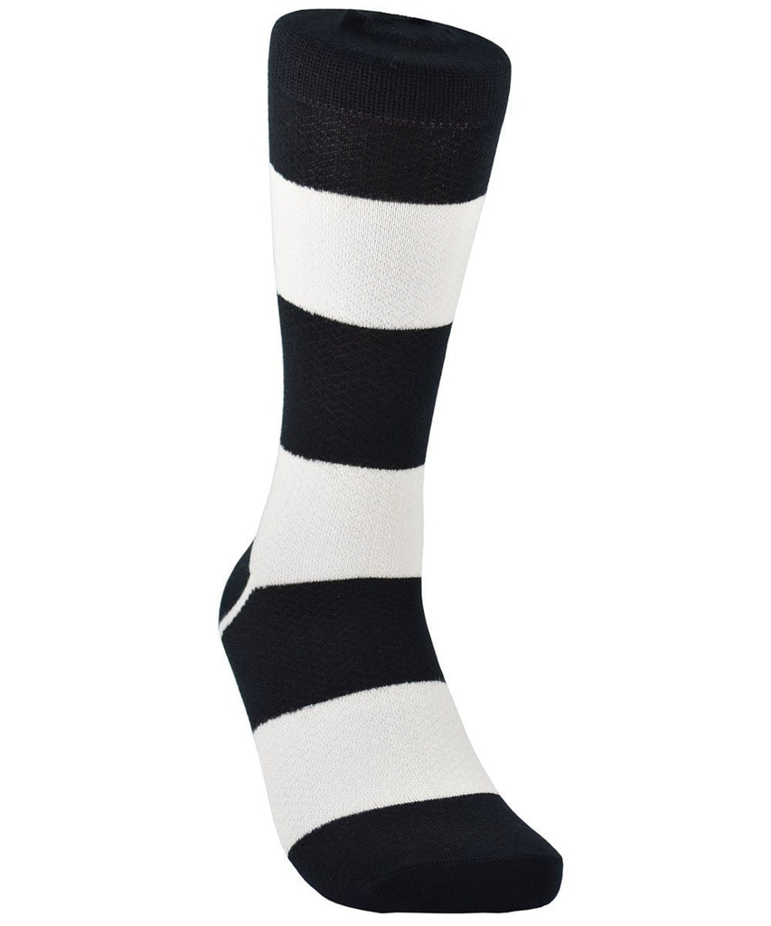 Black and White Striped Cotton Dress Socks By Paul Malone Paul Malone Socks - Paul Malone.com