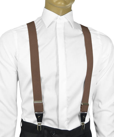 Solid Sunflower Yellow Men's Suspenders