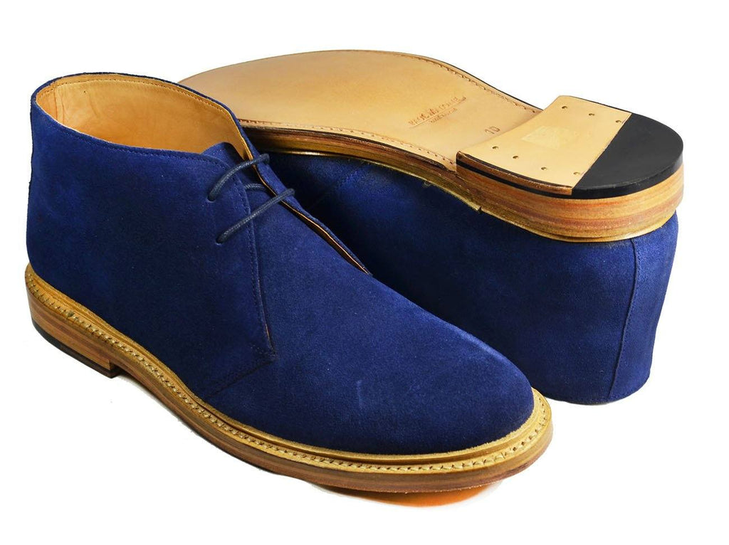 SAHARA Blue Suede Chukka Ankle Boots by Paul Malone Paul Malone Shoes - Paul Malone.com