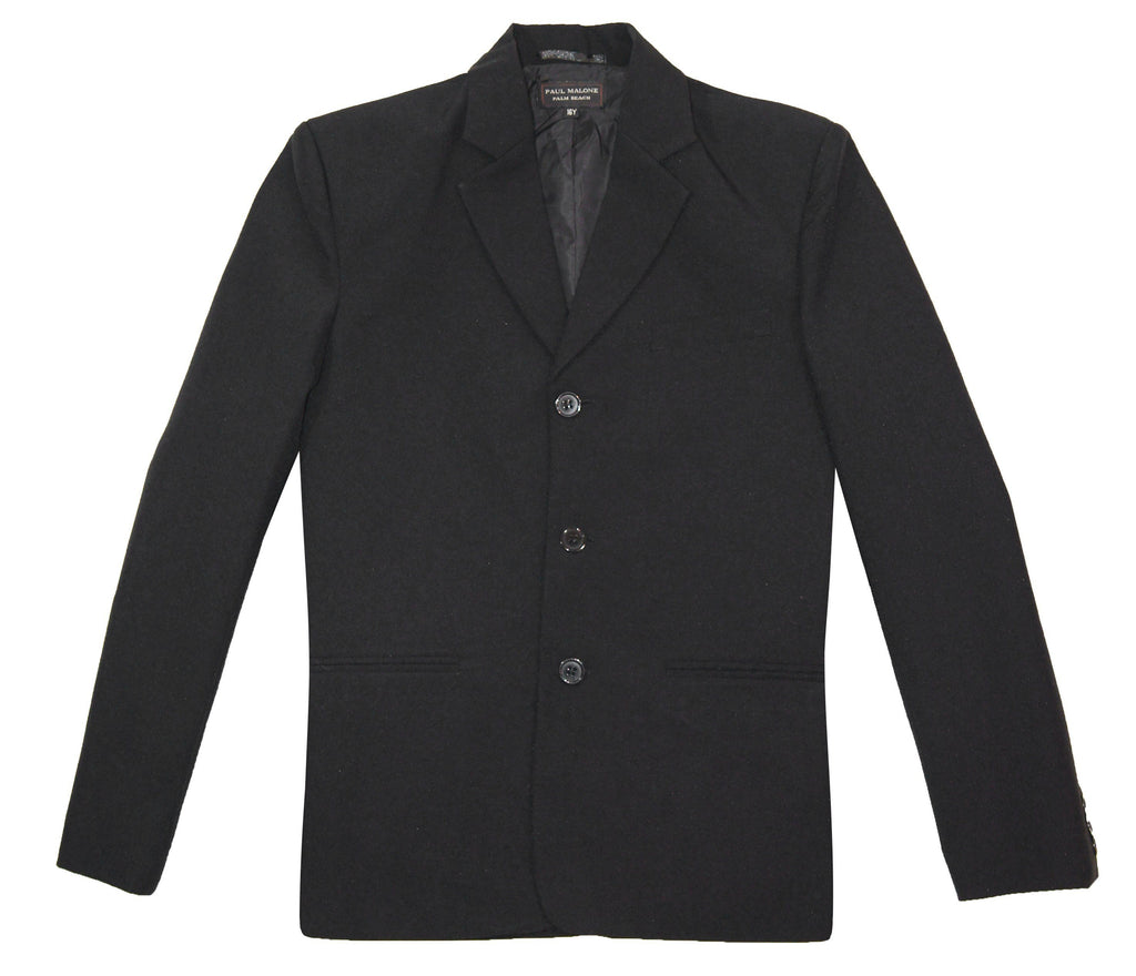 Classic Black Boys 3-Button Suit Jacket by Paul Malone Paul Malone Suits - Paul Malone.com