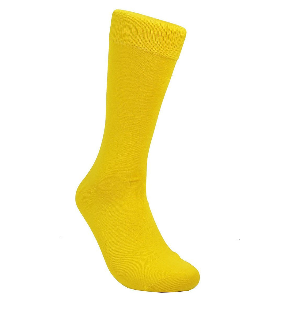 Solid Gold Cotton Dress Socks By Paul Malone Paul Malone Socks - Paul Malone.com