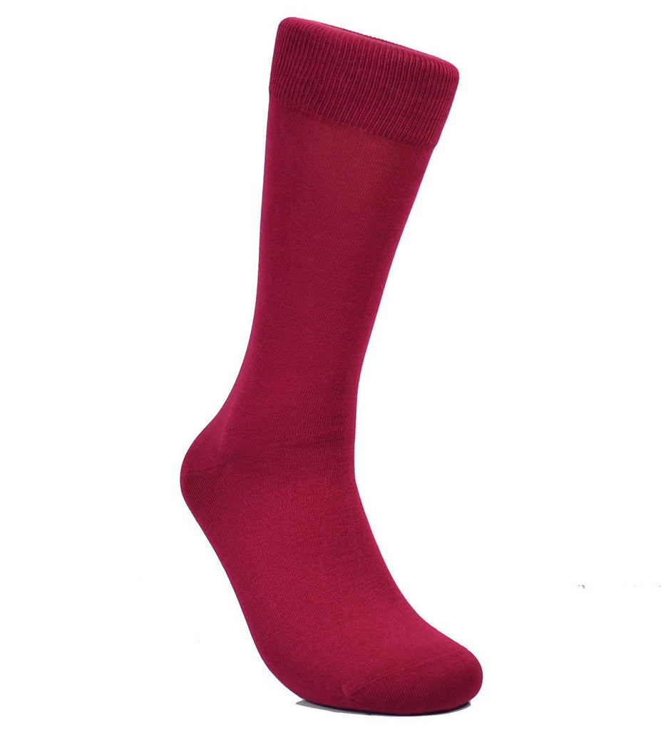 Solid Maroon Cotton Dress Socks By Paul Malone Paul Malone Socks - Paul Malone.com