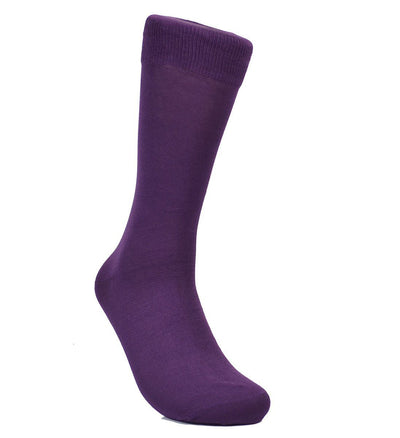 Solid Plum Cotton Dress Socks By Paul Malone Paul Malone Socks - Paul Malone.com