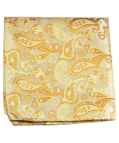 Golad Paisley Men's Pocket Square Paul Malone Pocket Square - Paul Malone.com