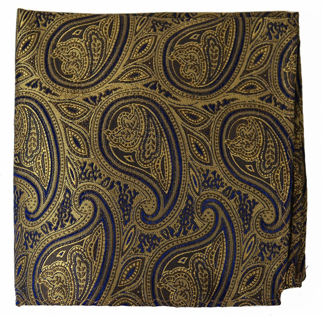 Ermine Brown Paisley Necktie Set Paul Malone Ties - Paul Malone.com