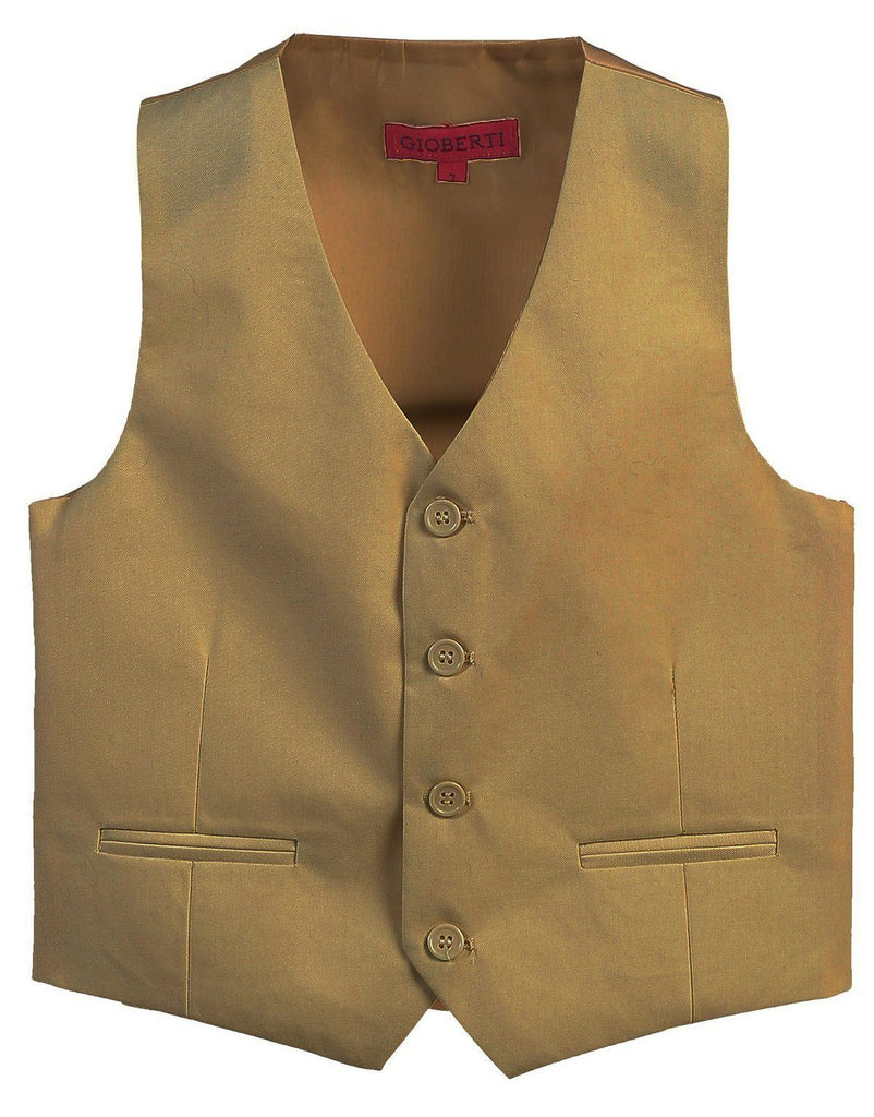 Khaki Boys 4-Button Suit Vest Gioberti Vest - Paul Malone.com