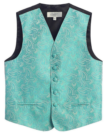 Boys Charcoal 4-Button Suit Vest