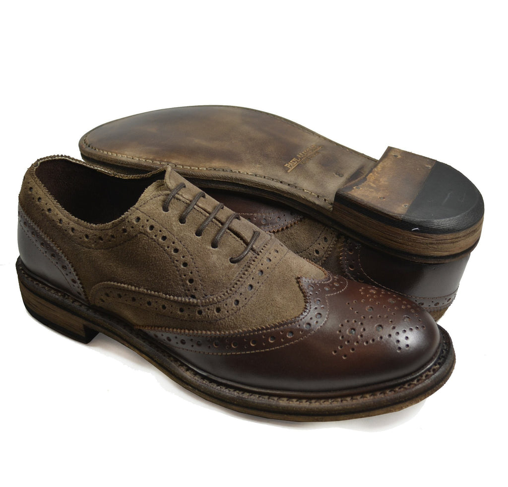 VERONA Distressed Brown Oxford Leather Shoes by Paul Malone Paul Malone Shoes - Paul Malone.com