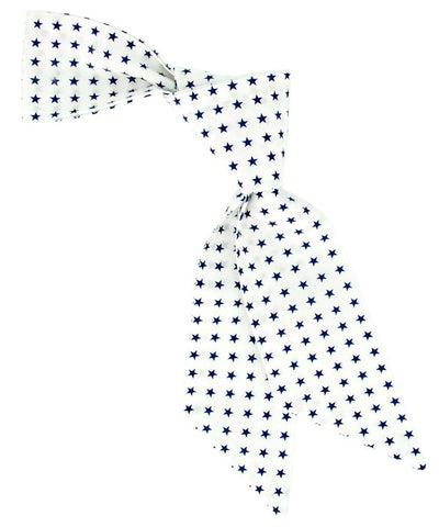 White and Navy Star Pattern Hair Tie Tie Passion Womens Ties - Paul Malone.com