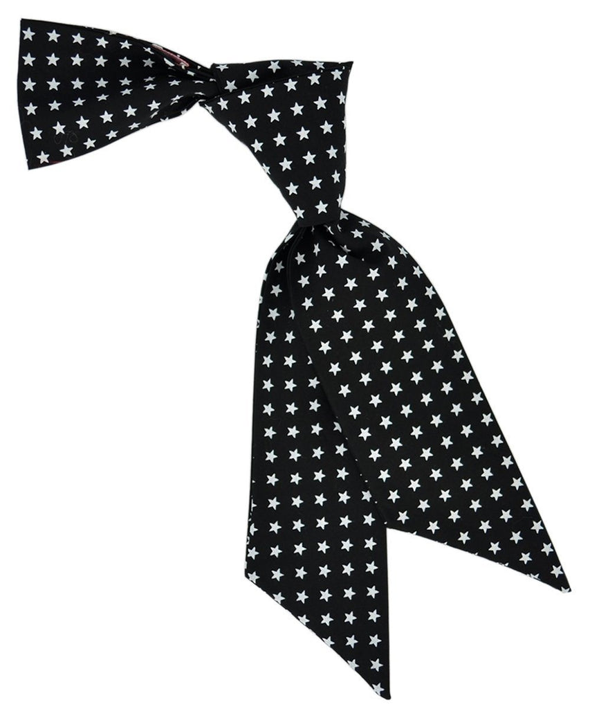 Black and White Star Pattern Hair Tie Tie Passion Womens Ties - Paul Malone.com