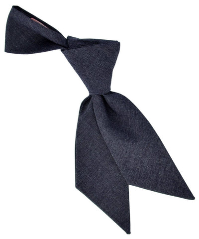 Solid Charcoal Women's Cotton Tie Tie Passion Womens Ties - Paul Malone.com